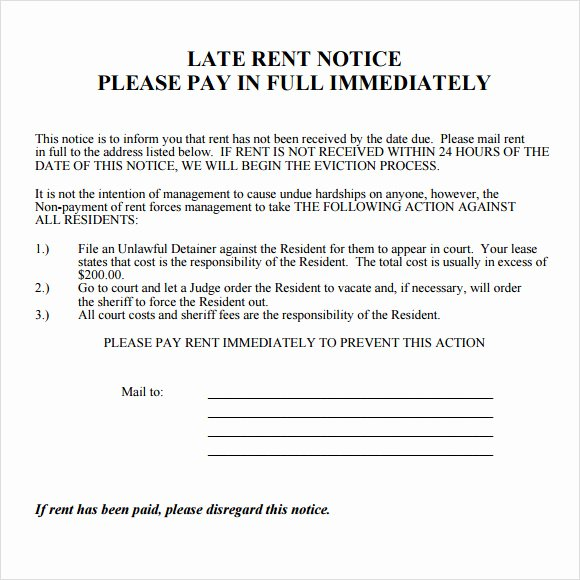Sample Late Rent Notice Unique Free 11 Useful Sample Late Rent Notice Templates In Pdf