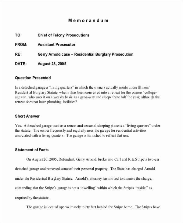 Sample Legal Memo format Awesome Internal Memo Template 11 Examples In Word Pdf Google