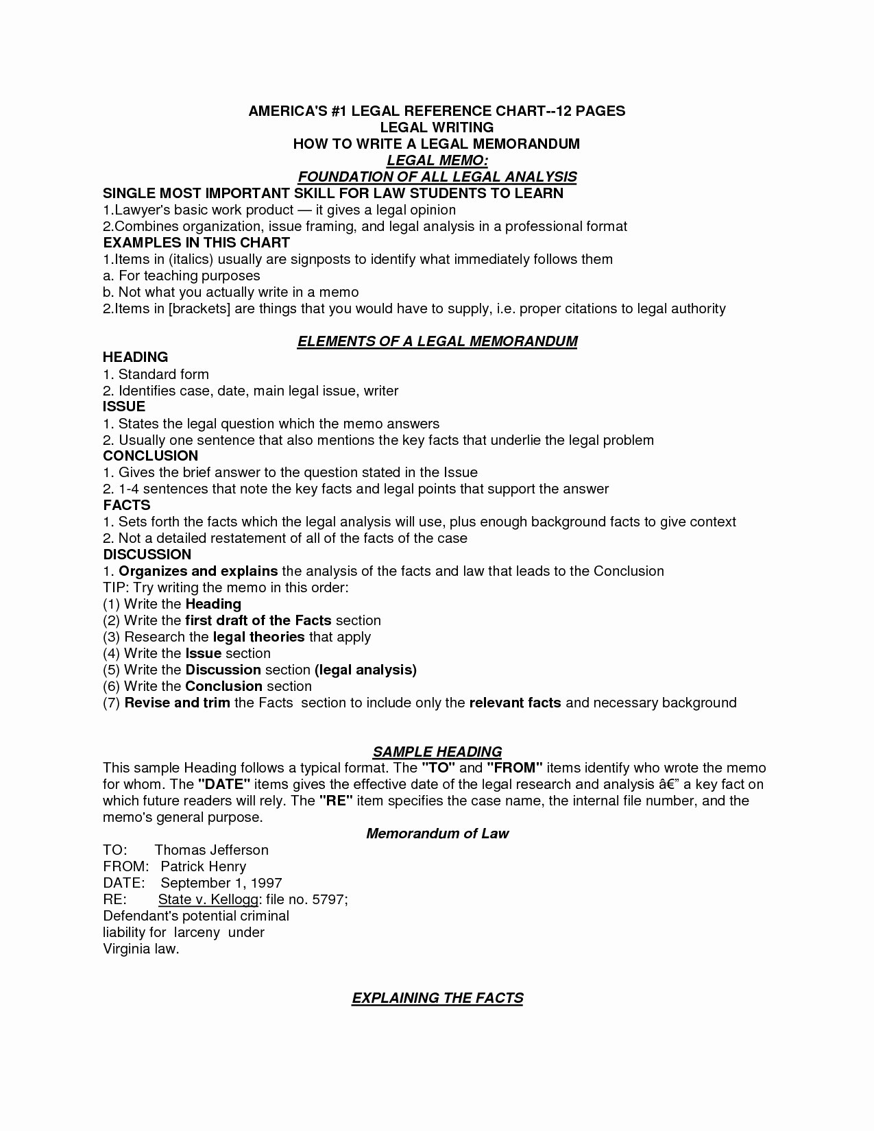 Sample Legal Memo format Beautiful Legal Memo format Irac