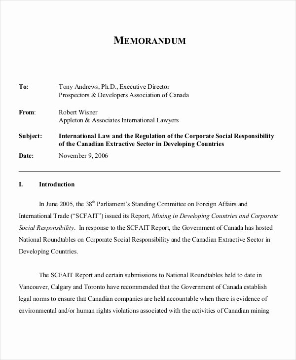 Sample Legal Memo format Elegant Free 12 Legal Memo Examples & Samples In Pdf