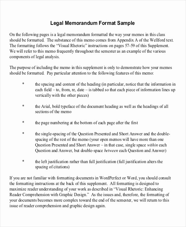 Sample Legal Memo format New 15 Memorandum Samples Examples In Word Pdf
