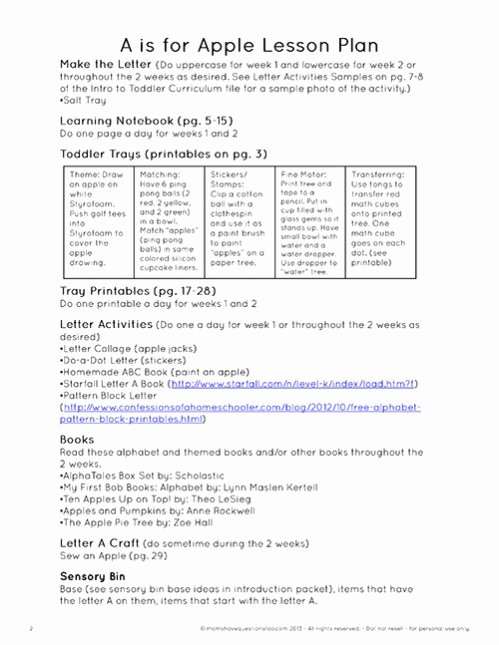 Sample Lesson Plans for toddlers Best Of toddler Curriculum and Schedule