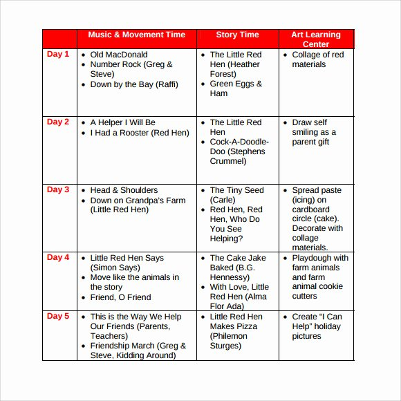 Sample Lesson Plans for toddlers Unique Sample toddler Lesson Plan 8 Documents In Pdf Word