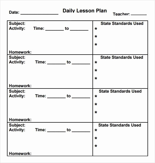 Sample Lesson Plans Kindergarten Elegant Free 10 Sample Preschool Lesson Plan Templates In Google