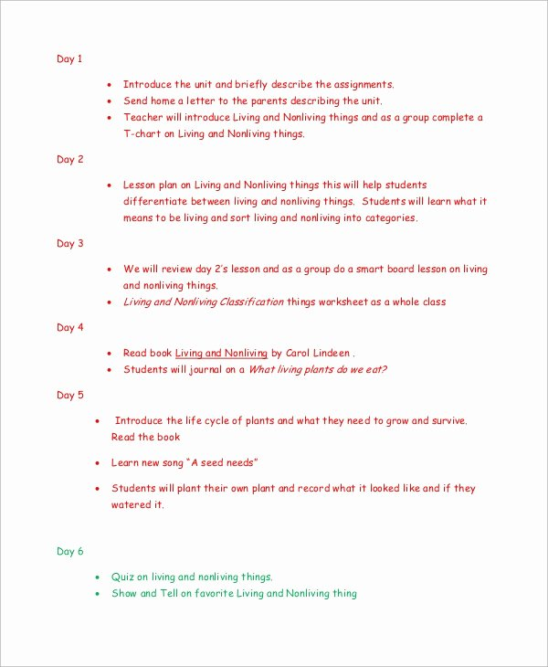 Sample Lesson Plans Kindergarten Elegant Sample Kindergarten Lesson Plan 8 Examples In Pdf Word