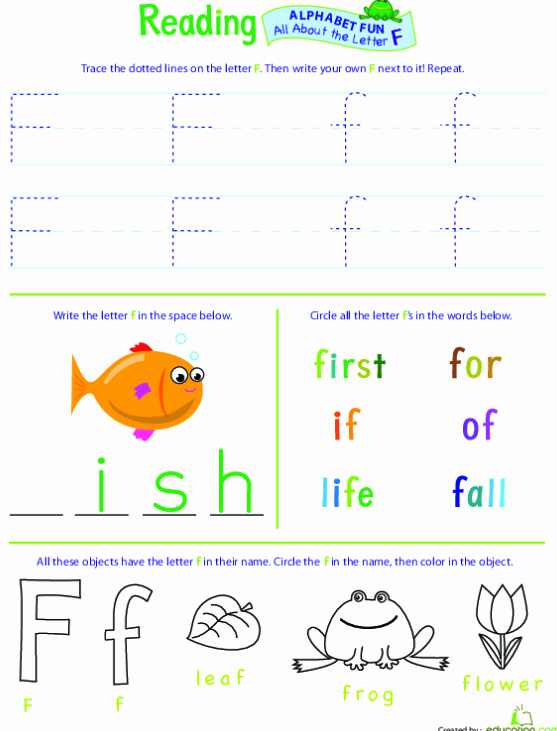 Sample Lesson Plans Kindergarten Inspirational Full Of Fantastic Fun the Letter F