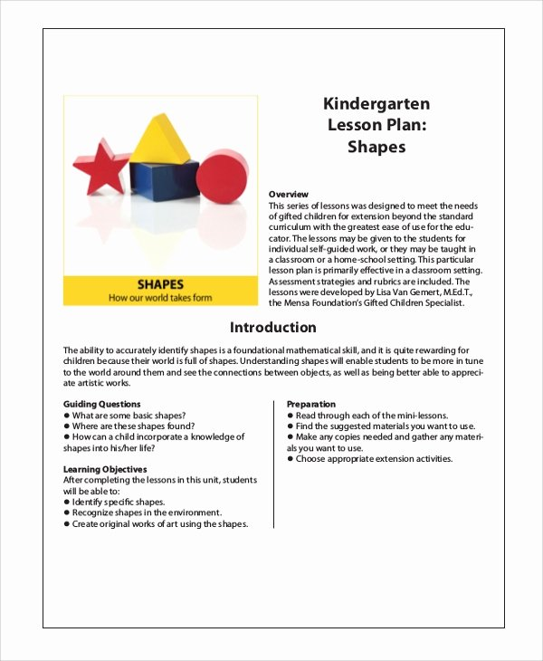 Sample Lesson Plans Kindergarten Lovely Sample Kindergarten Lesson Plan 8 Examples In Pdf Word