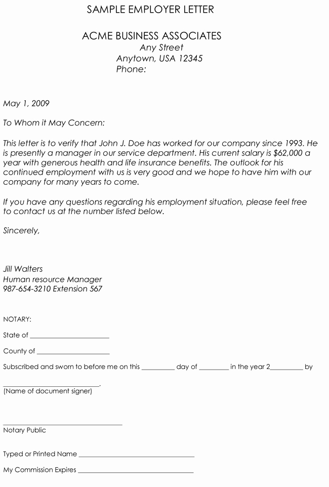 Sample Letter for Employee Beautiful Employment Verification Letter 8 Samples to Choose From