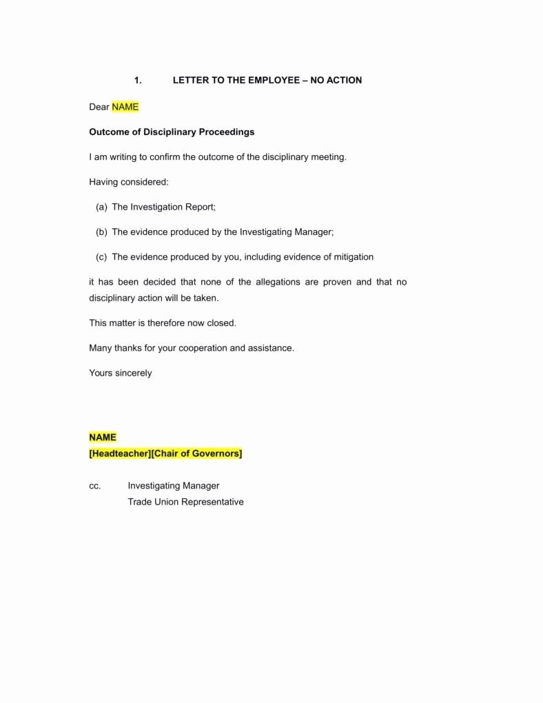 Sample Letter for Employees Beautiful 9 Disciplinary Warning Letters Free Samples Examples