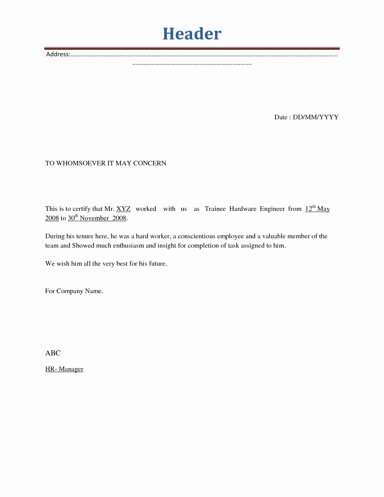 Sample Letter for Employees New Employment Termination Letters Samples