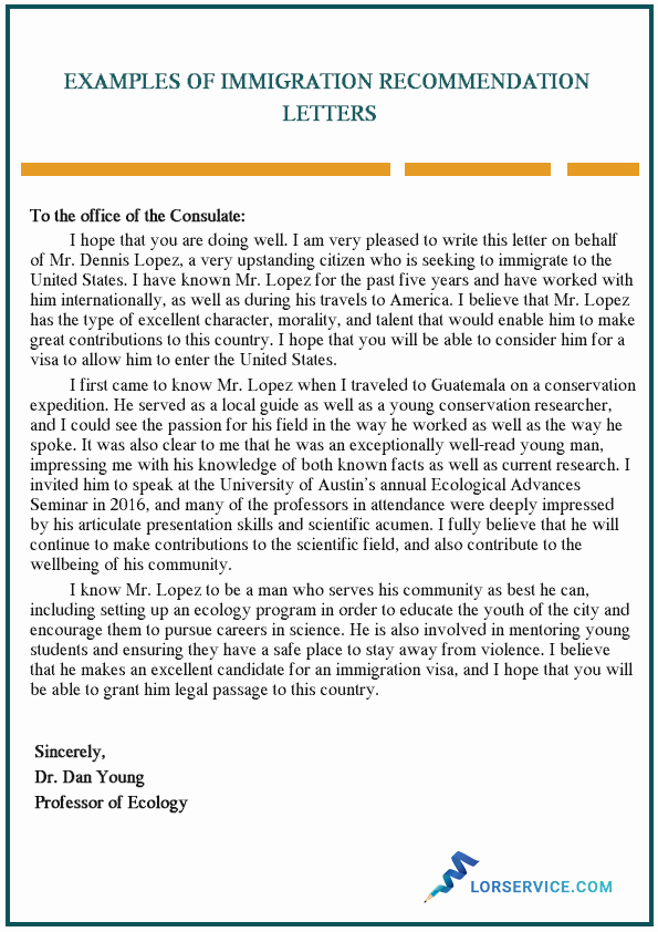 Sample Letter for Immigration Recommendation Beautiful How Should Be the format Of the Employer Reference Letter