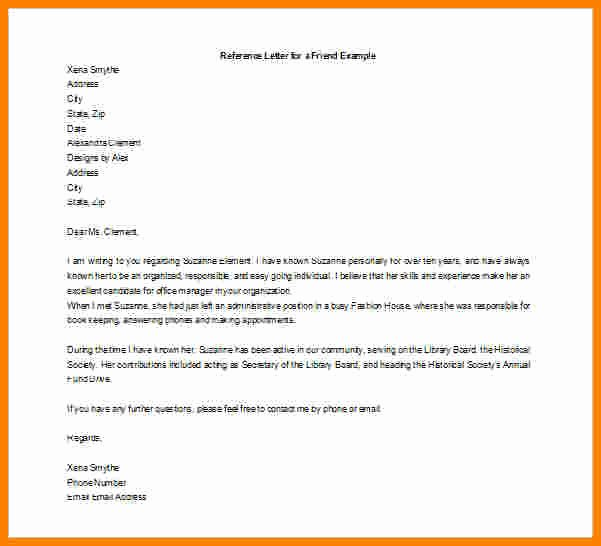 Sample Letter for Immigration Recommendation Best Of 7 Immigration Letter for A Friend