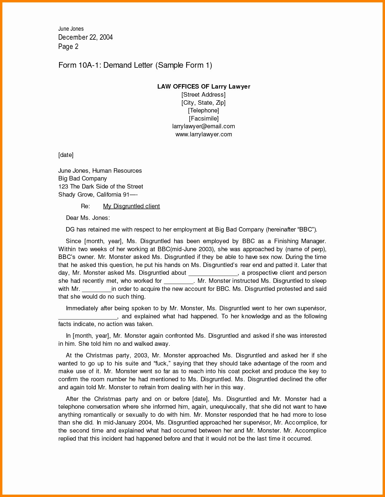 Sample Letter Of Demand Beautiful 12 13 Sample Demand Letter From attorney