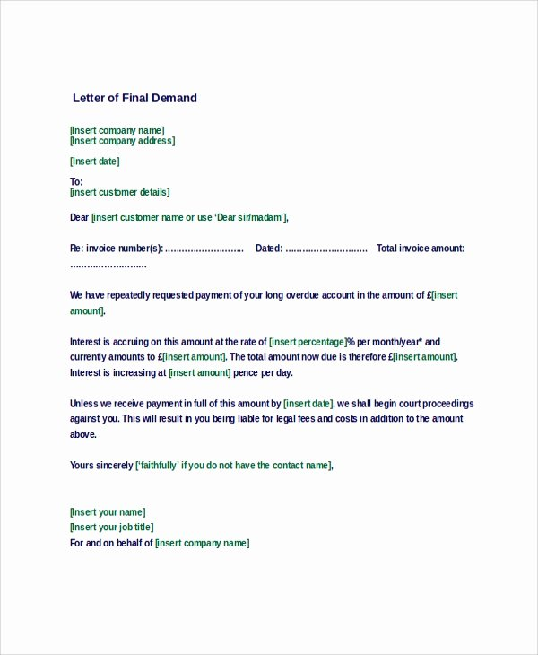 Sample Letter Of Demand Unique Sample Demand Letter 7 Documents In Pdf Word
