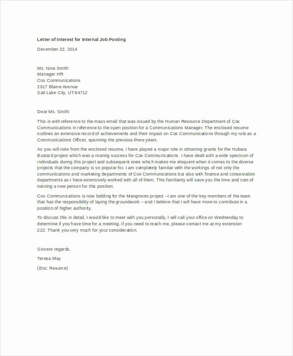 Sample Letter Of Intrest Elegant How to Write A Letter Of Interest for A Job