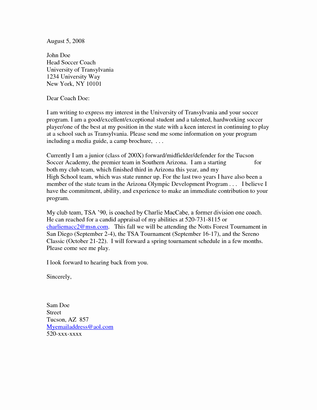 Sample Letter Of Intrest Lovely 12 Ways to Write A Letter Of Interest Example