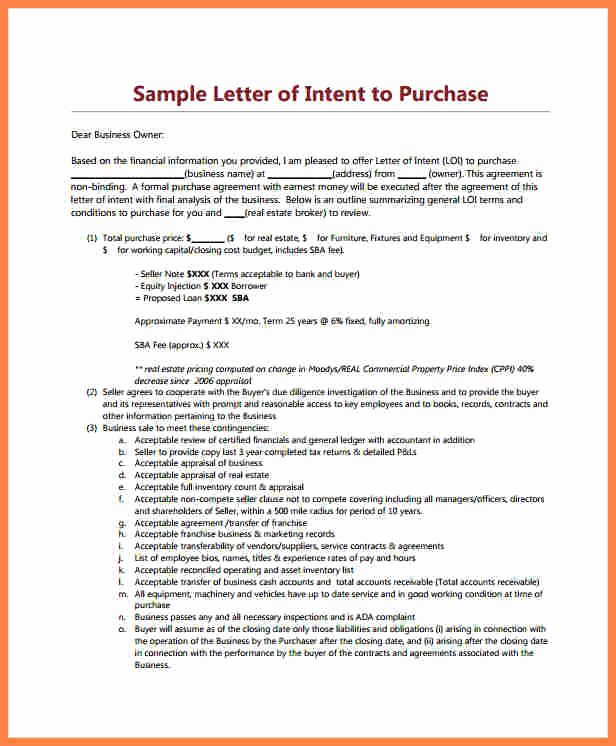 Sample Letter to Home Seller Awesome 10 Letter Of Intent for Real Estate Purchase Template