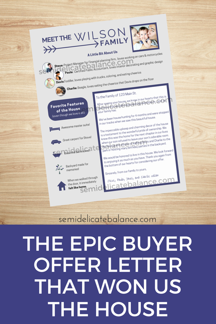Sample Letter to Home Seller New the Epic Buyer Fer Letter that Won Us the House