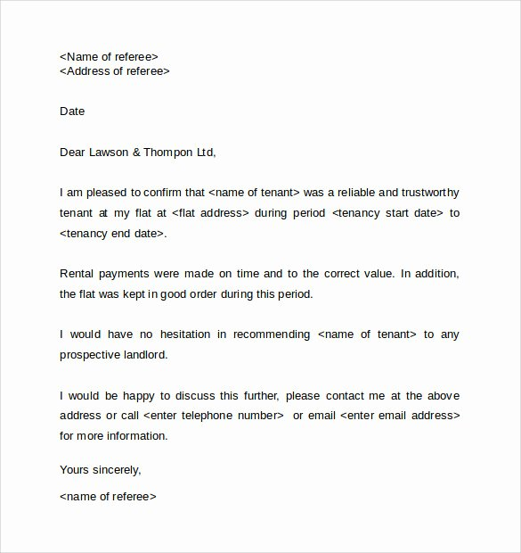 Sample Letter to Landlord Best Of Writing An Employee Reference for Landlord