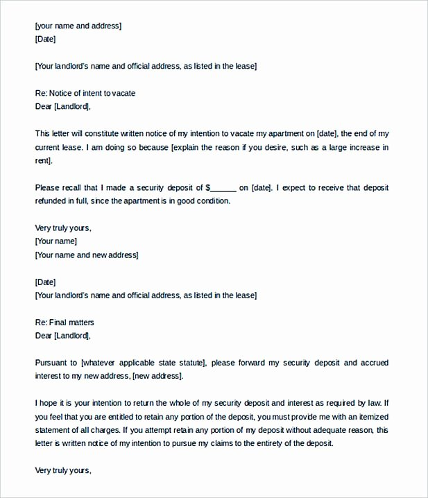 Sample Letter to Landlord Fresh 9 Lease Termination Letter Template