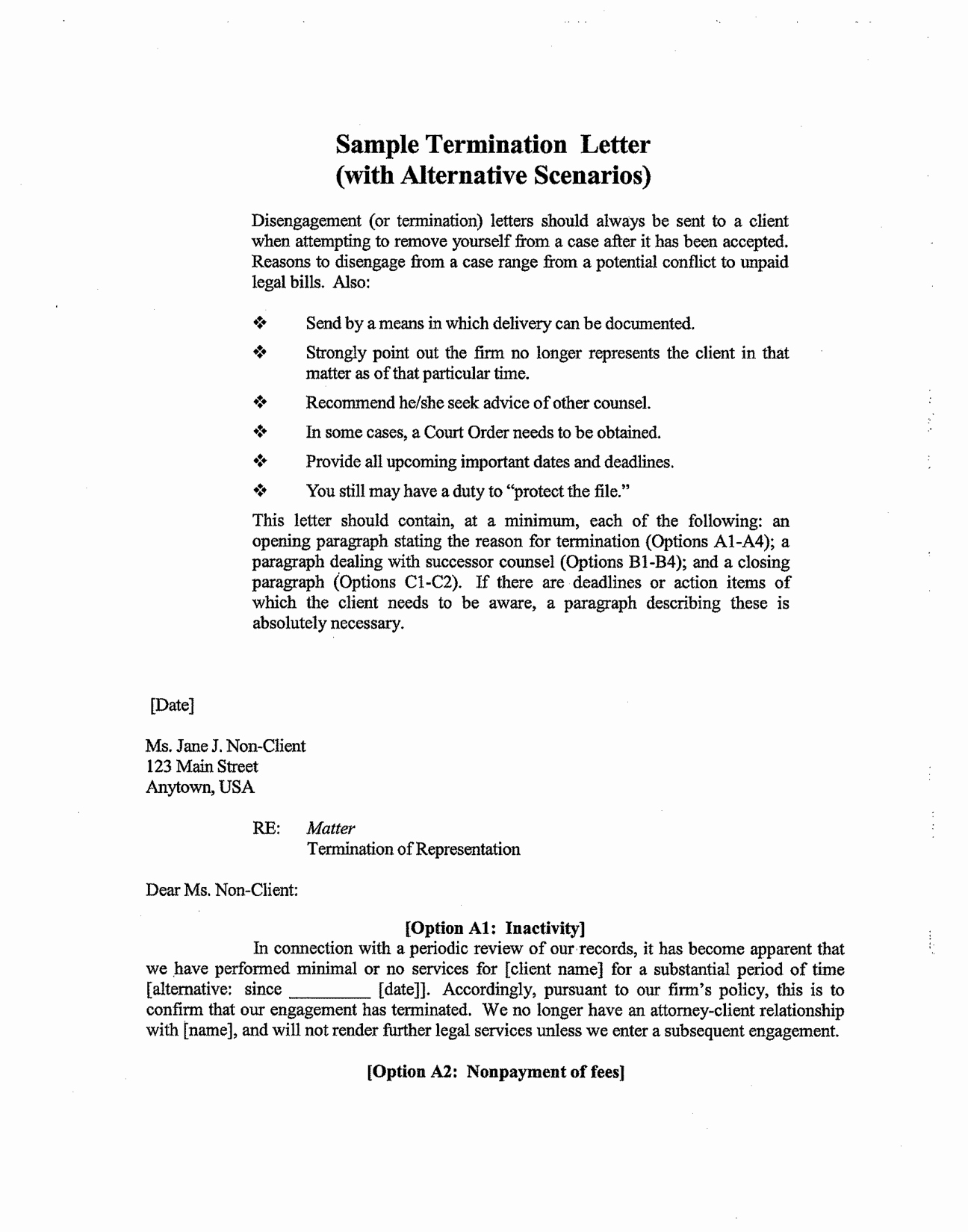 Sample Letter to Lawyer Lovely Best S Of Firing A Client Letter Template Sample