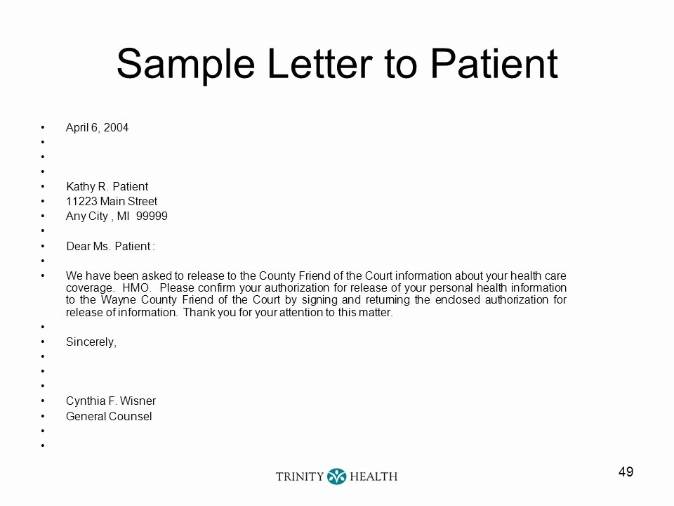 Sample Letter to Patient New Coordination Benefits Example