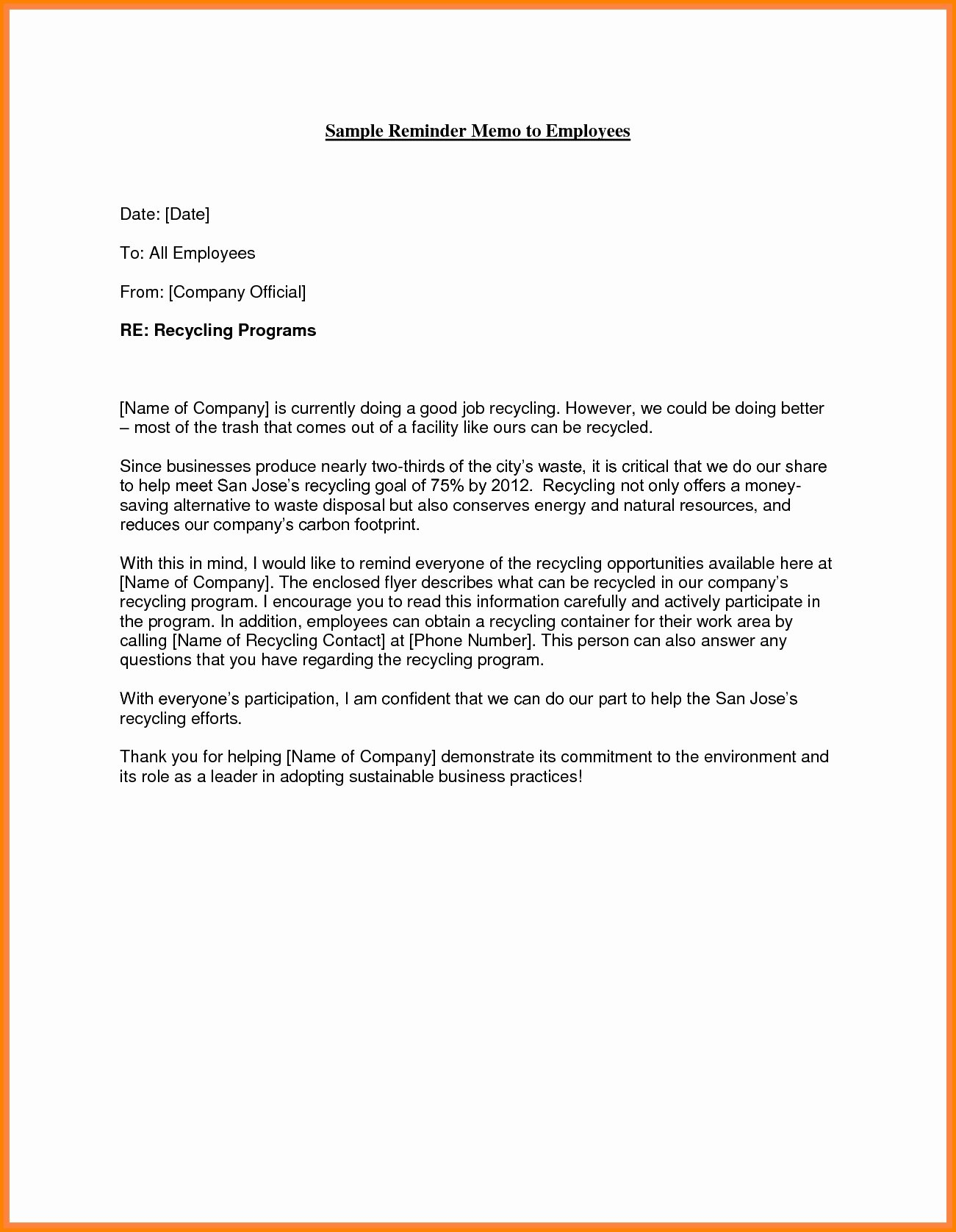 Sample Letters for Employees Beautiful Sample Memo Letter to Employee
