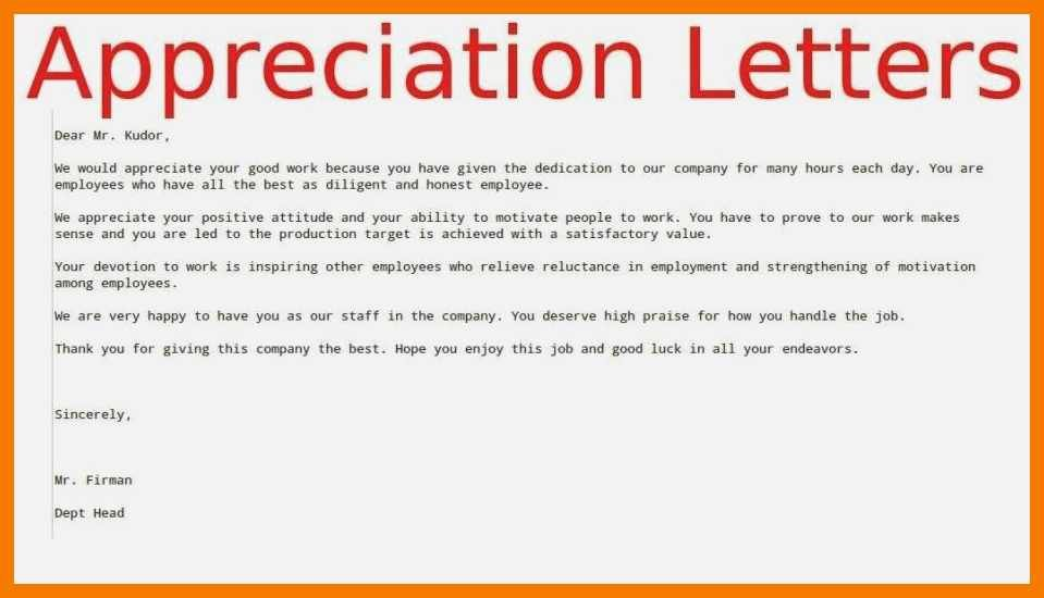 Sample Letters for Employees Elegant 9 10 Sample Appreciation Letters to Employees