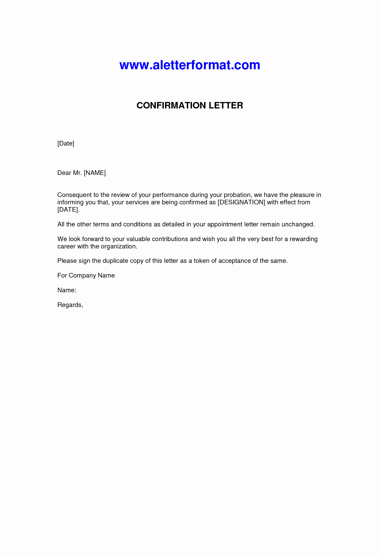 Sample Letters for Employment Awesome Letter Confirmation Employment