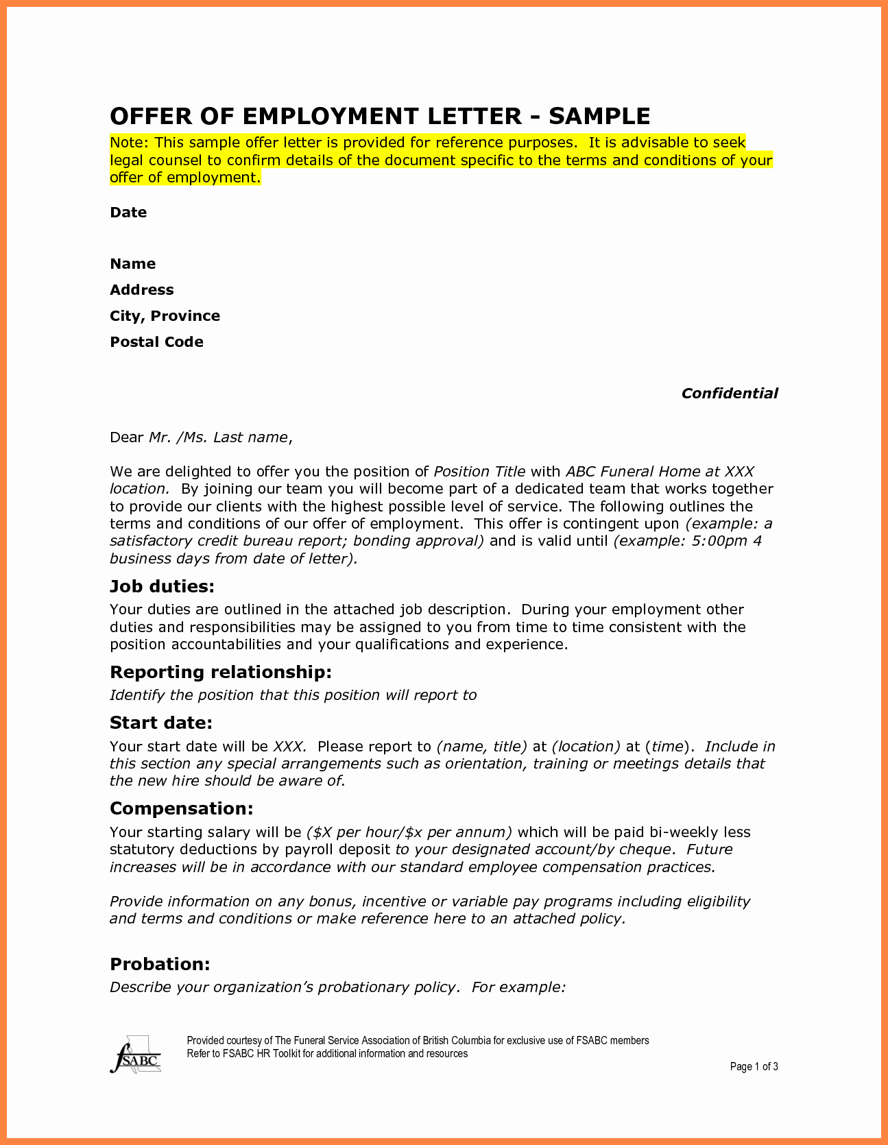 Sample Letters for Employment Unique 7 Employment Letter Sample
