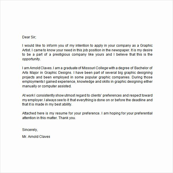 Sample Letters for Employment Unique Employment Letter 7 Free Doc Download