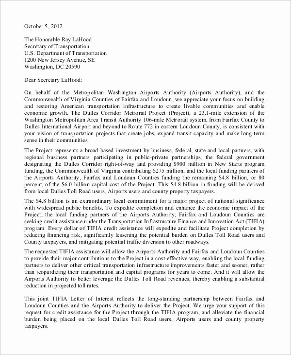 Sample Letters Of Interest Awesome Sample Letter Of Interest 8 Examples In Word Pdf