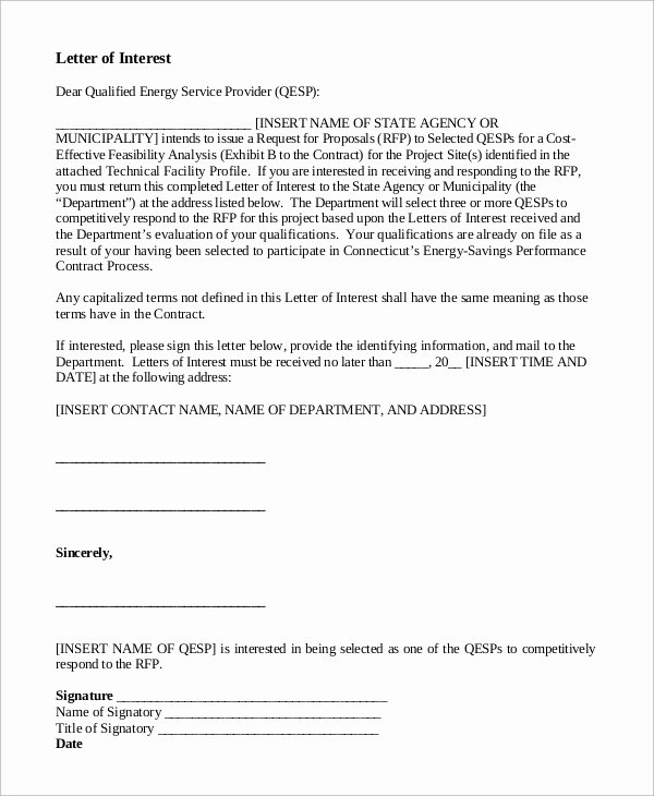 Sample Letters Of Interest Best Of Letter Of Interest Example 9 Samples In Word Pdf