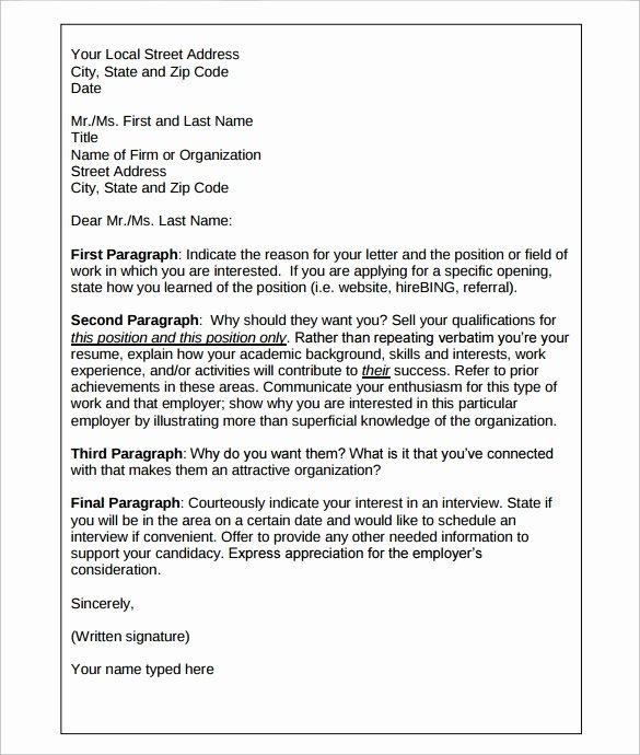 Sample Letters Of Interest Elegant Sample Letter Interest 7 Download Free Documents In