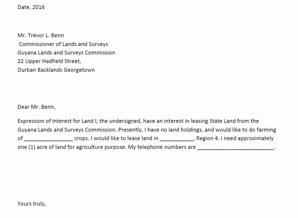 Sample Letters Of Interest Luxury Public Lands Application Process – Glsc
