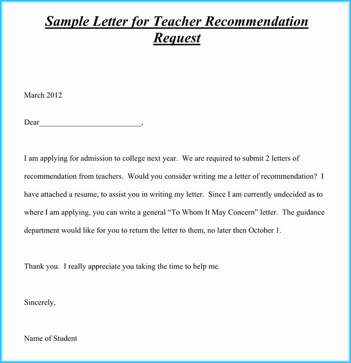 Sample Letters Of Recommendation Teacher Luxury Teacher Re Mendation Letter 20 Samples Fromats
