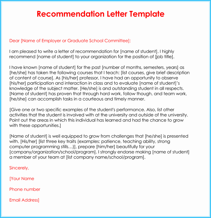 Sample Letters Of Recommendation Teachers Elegant Teacher Re Mendation Letter 20 Samples Fromats