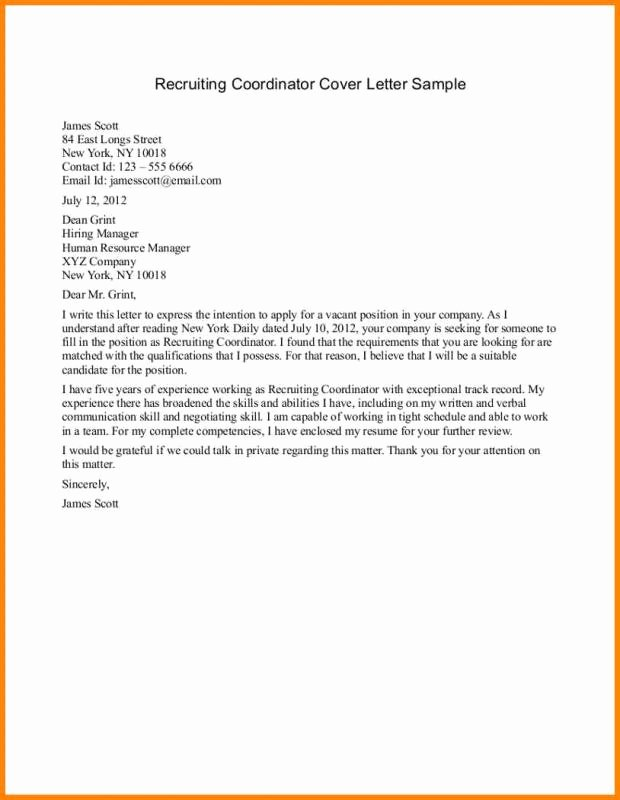 Sample Letters to Recruiters Awesome Sample Email to Recruiter