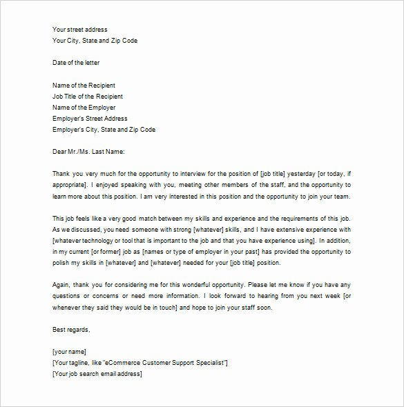 Sample Letters to Recruiters Beautiful 10 Thank You Letter to Recruiter Pdf Doc
