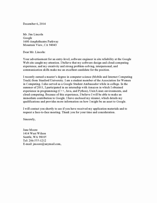 Sample Letters to Recruiters Elegant Recruiter Cover Letter