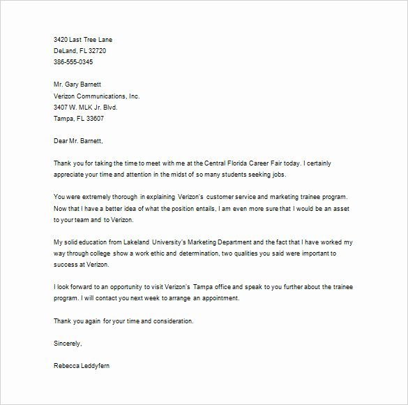 Sample Letters to Recruiters Fresh Thank You Letter to Recruiter – 10 Free Sample Example