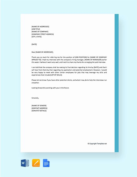 Sample Letters to Recruiters Luxury 10 Thank You Letter to Recruiter Pdf Doc