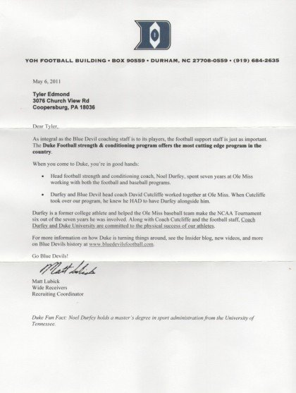 Sample Letters to Recruiters Unique Qb Family Letters Of Recruitment Ty Edmond