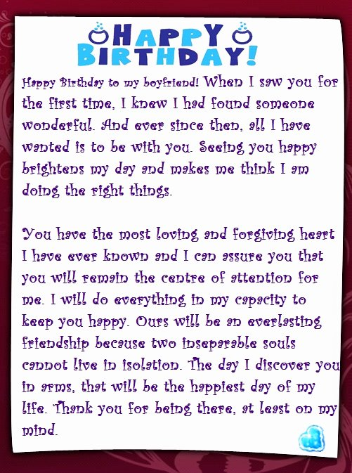 Sample Love Letter to Boyfriend Beautiful A Sweet Happy Birthday Letter to My Boyfriend