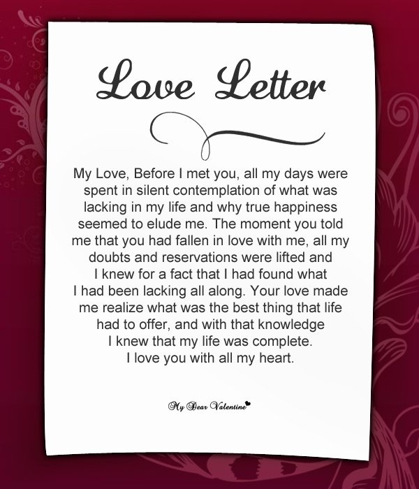 Sample Love Letter to Boyfriend Best Of 20 Special and Romantic Love Letters for Girlfriends