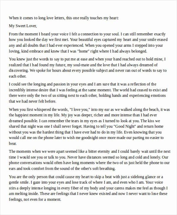 Sample Love Letter to Boyfriend Elegant Love Letter Examples