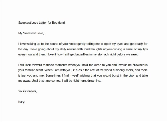 Sample Love Letter to Boyfriend Fresh the Sweetest Love Letter Ever Written for Boyfriend She