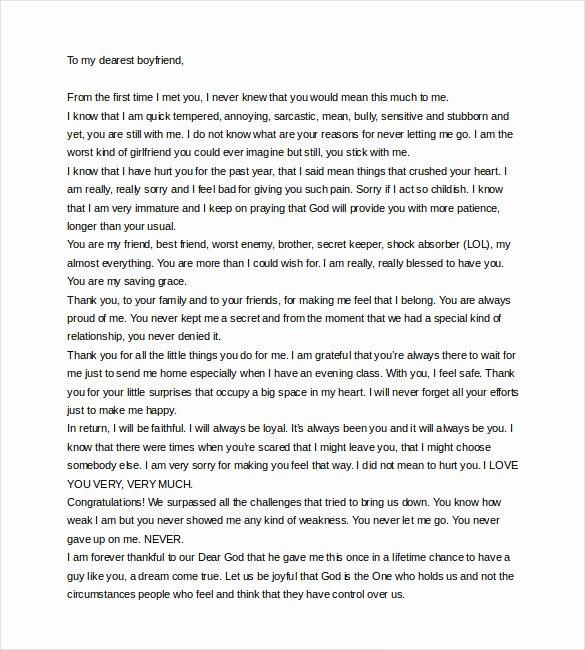 Sample Love Letter to Boyfriend Lovely 9 Love Letter to Boyfriend Doc Pdf
