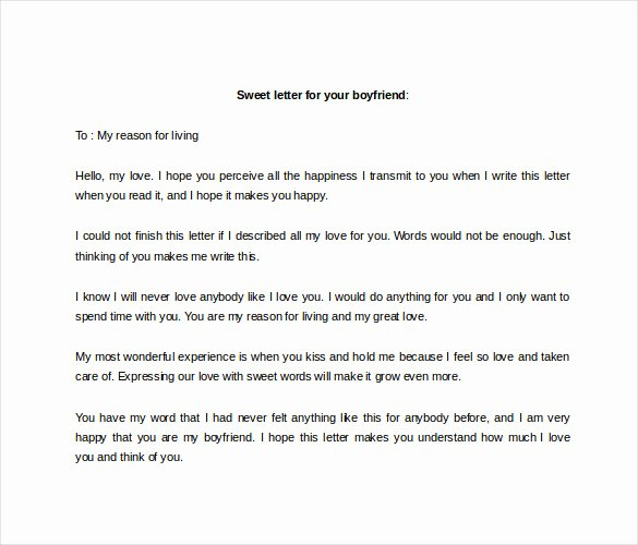 Sample Love Letter to Boyfriend Unique 9 Sample Love Letter to Boyfriend Doc Pdf