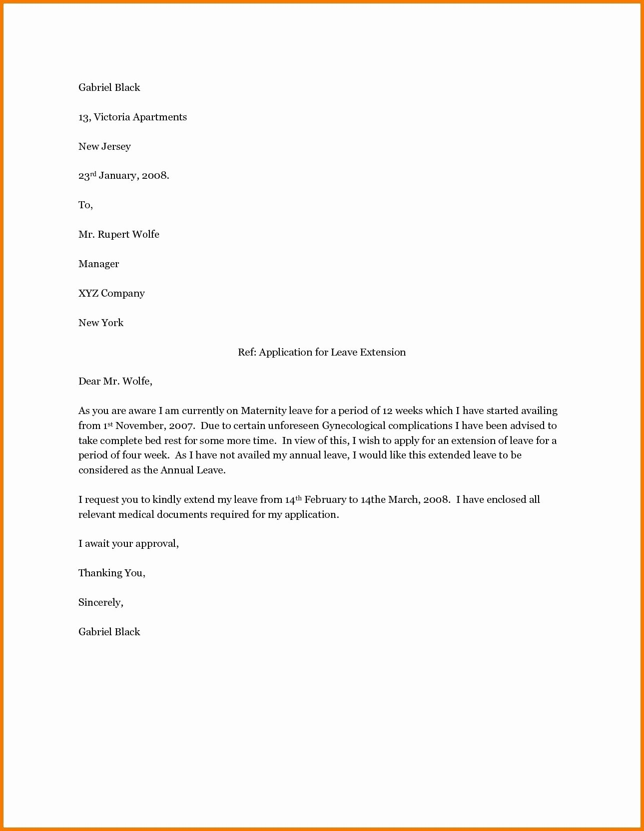 Sample Maternity Leave Letter Best Of Valid Example Letter to Inform Employer Pregnancy Bob